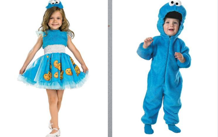 Boy and Girl \u201cToddler\u201d Cookie Monster Costumes