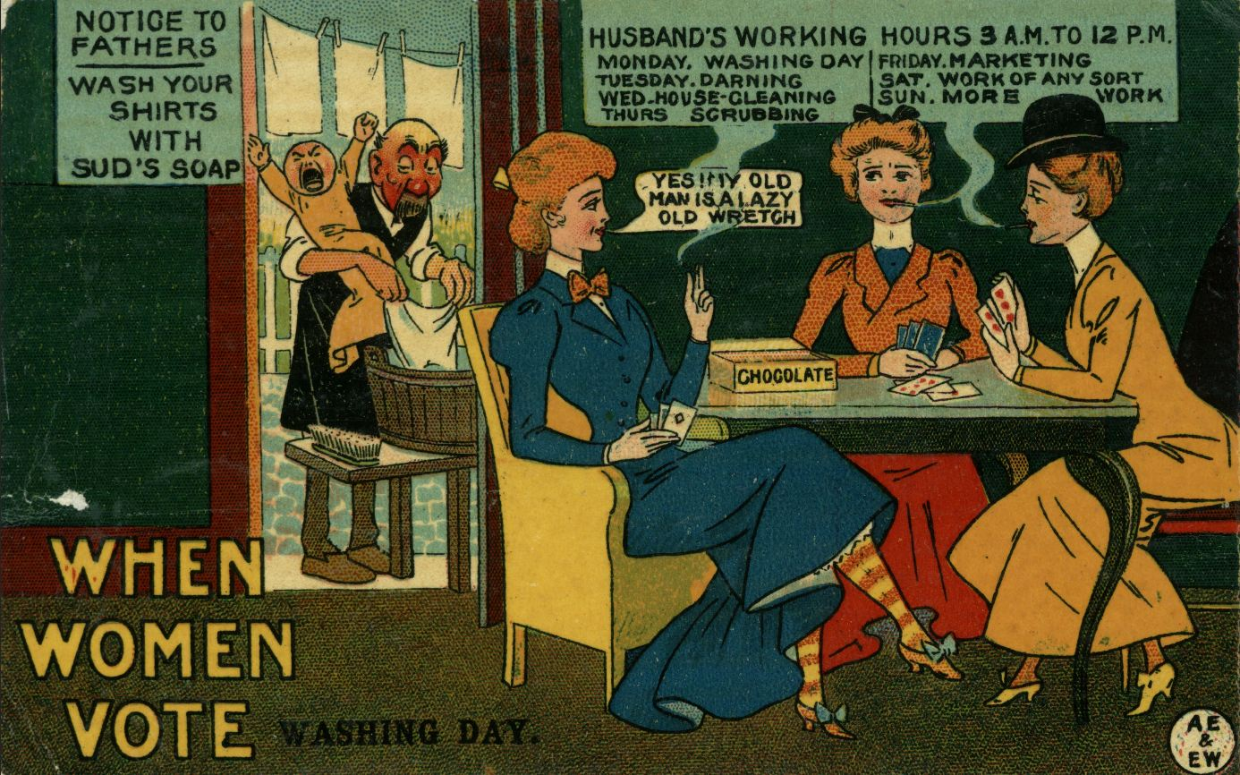 Image result for anti-suffragist when women vote