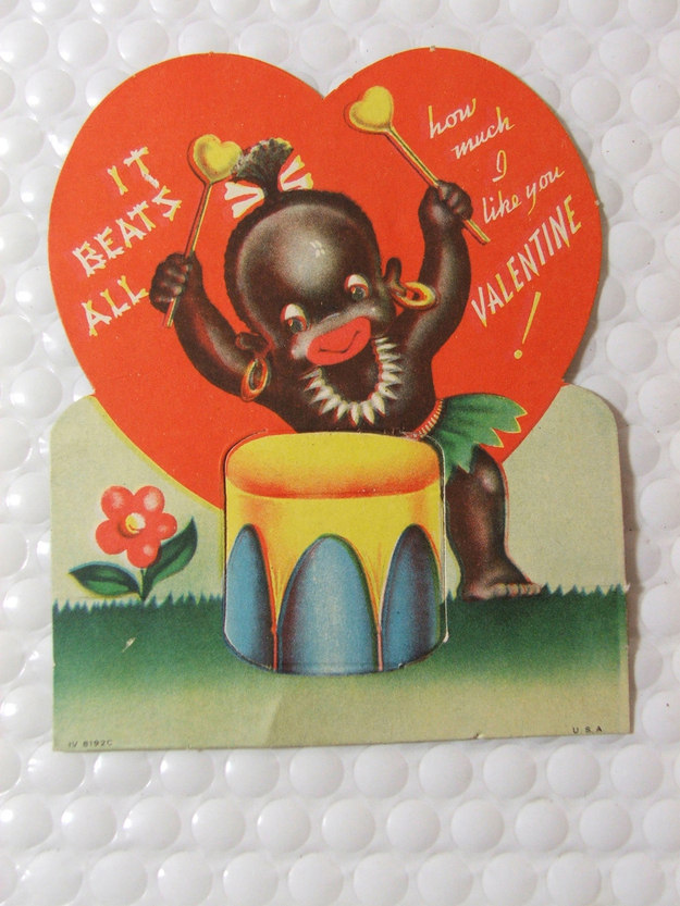 Racist Vintage Valentines Day Cards Africans and African – Vintage Valentines Card