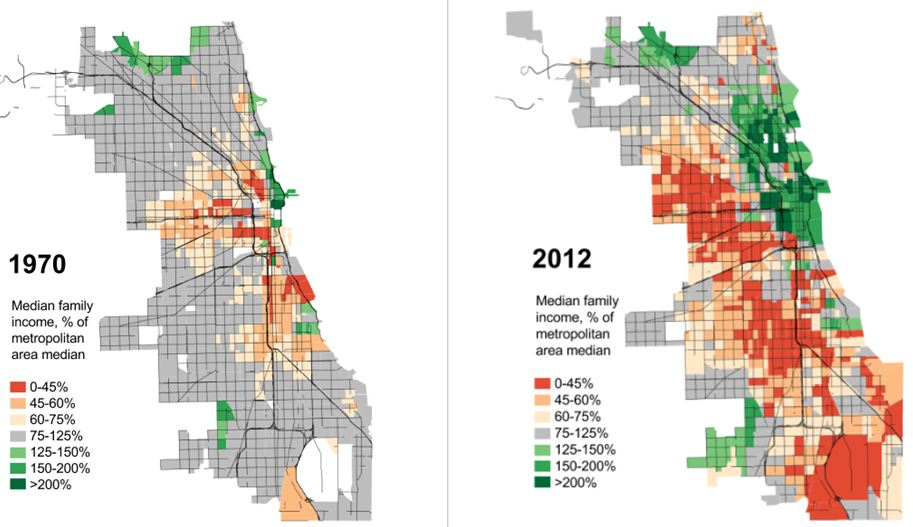 Chicago S Disappearing Middle Class Sociological Images