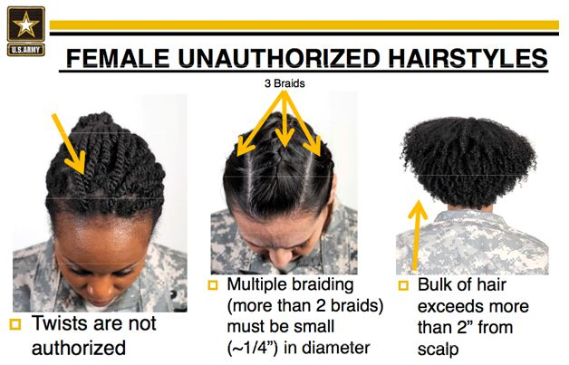 Astonishing U S Army Releases Racially Biased Hairstyle Regulations Short Hairstyles For Black Women Fulllsitofus