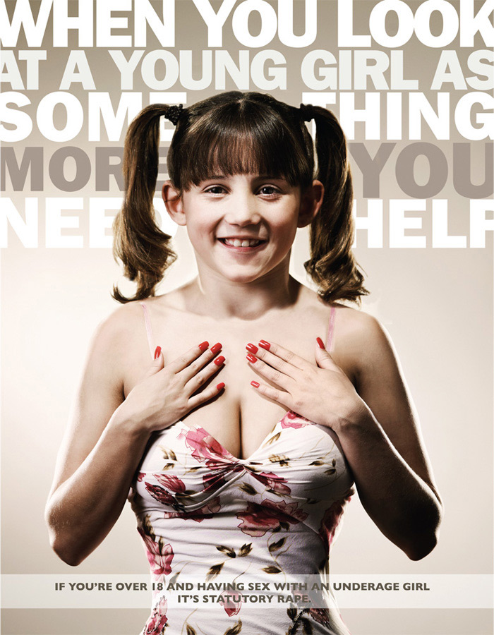 These anti-statutory rape PSAs were made by advertising agency Serve ...