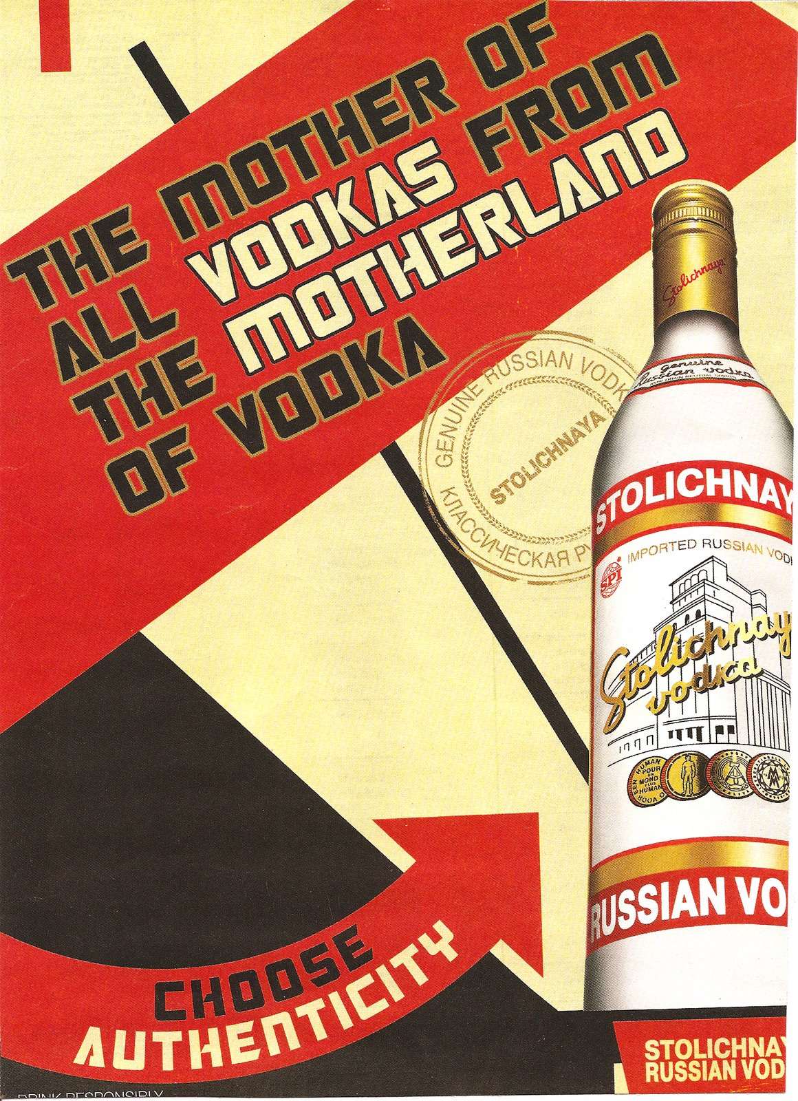 selling authenticity  stoli vodka ad