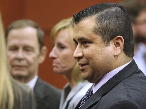 George Zimmerman leaves court with his family after Zimmerman's not guilty verdict was read  Source: VOA