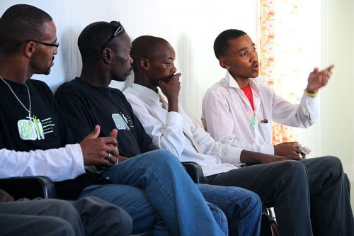 One Man Can, a UN sponsored program of Sonke Gender Justice Network, works to engage men in South African in HIV and gendered violence prevention. (Source: Lindsay Mgbor/Department for International Development)