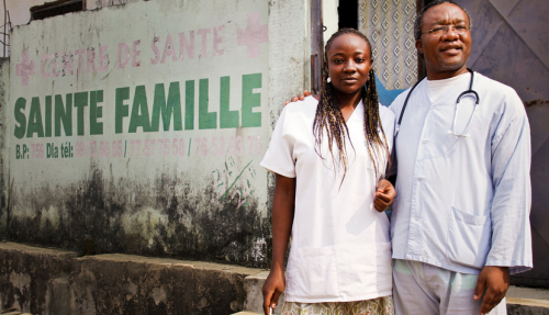 Unauthorized Health Clinic in Douala, Cameroon Source: Andres Caballero/NPR