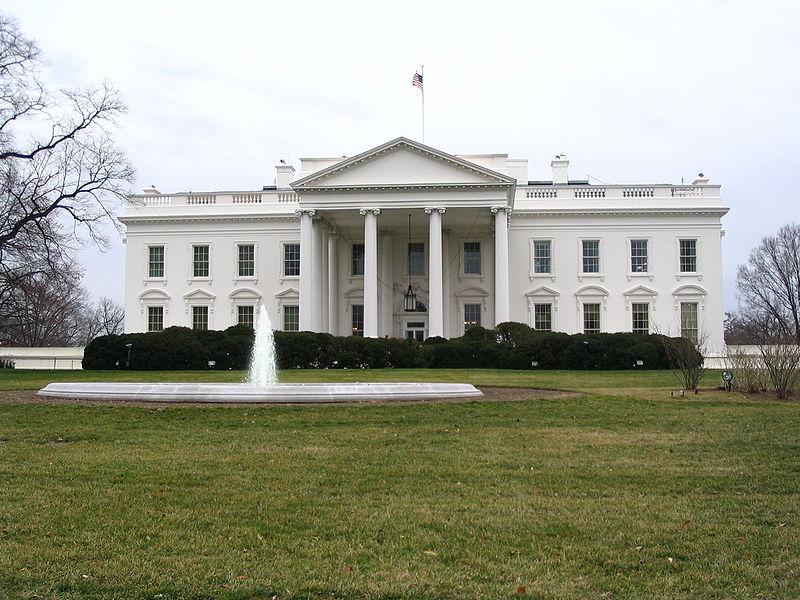 The White House.  Source: Wikimedia Commons