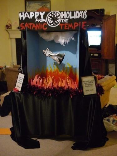 Satanic Temple holiday display, Florida Capitol Rotunda