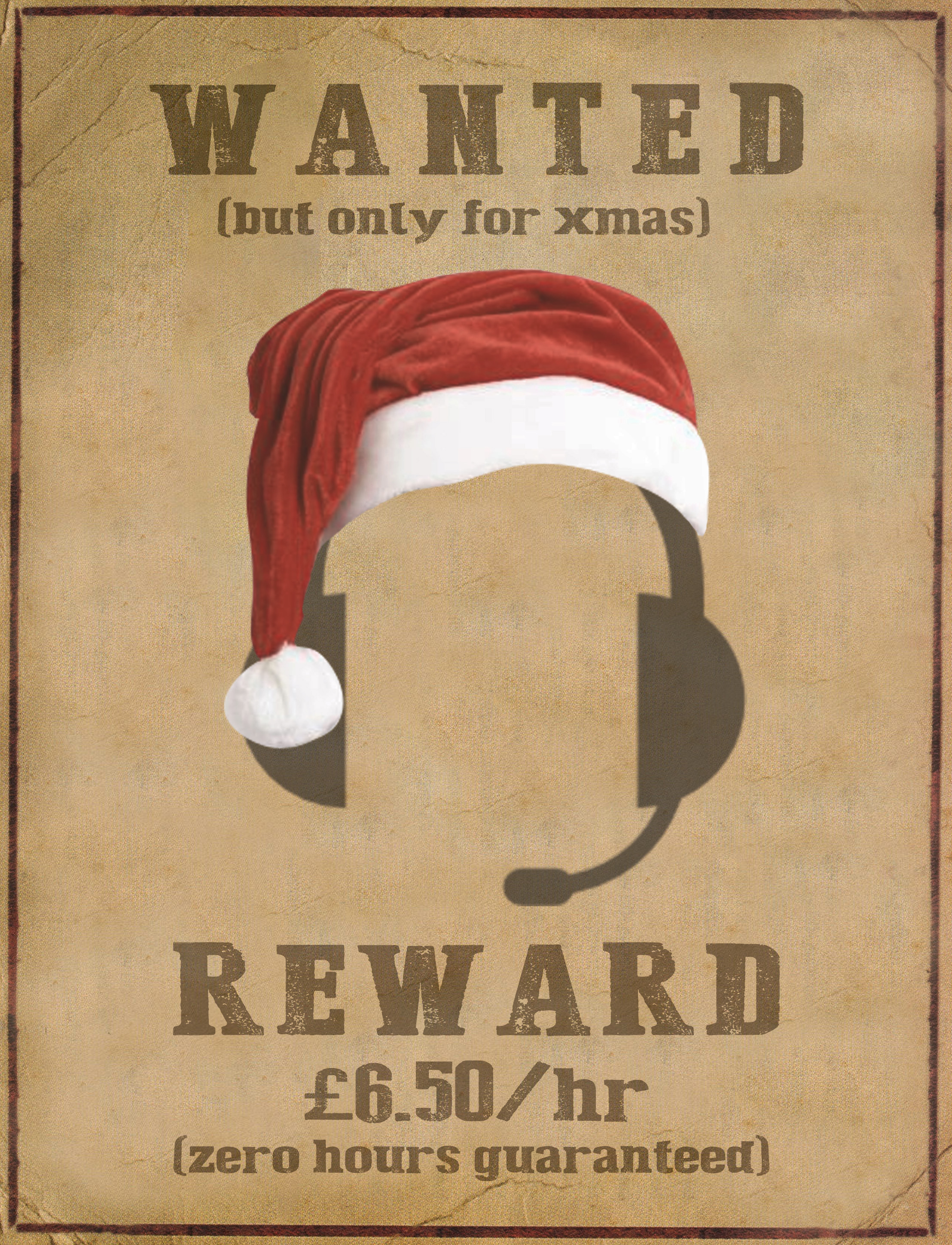 Christmas Help Wanted.Is There Anything Else I Can Help You With Call Centres