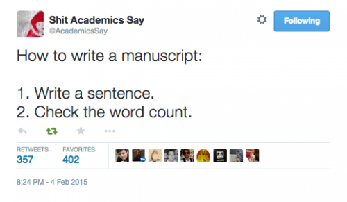 Source: Shit Academics Say Twitter @AcademicsSay