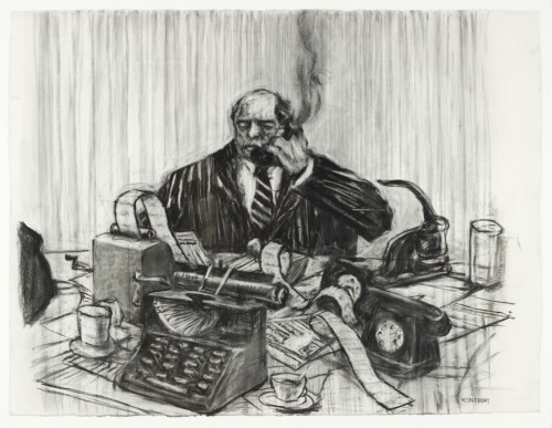 Photo by Nathan Keay, (c) MCA Chicago: William Kentridge (1995-96), 'Drawing for the film History of the Main Complain'