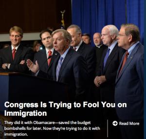A screenshot of heritage.org's homepage, 6/20/2013.