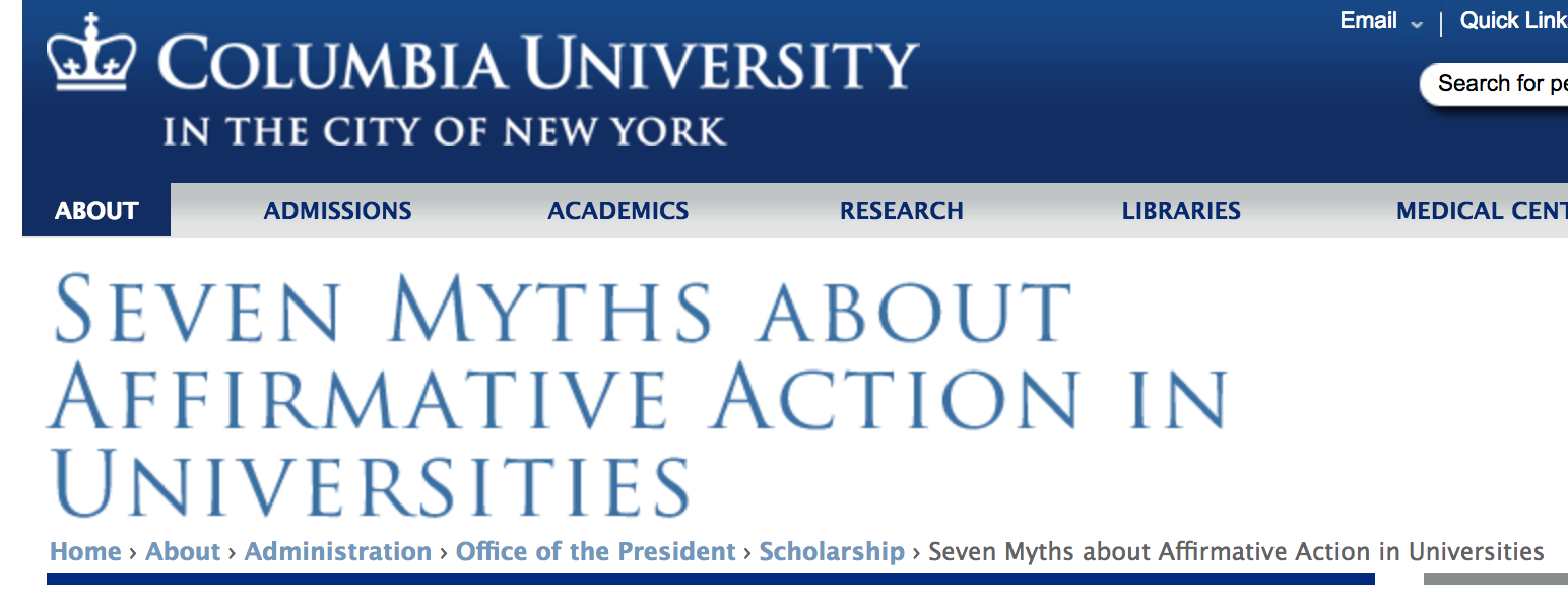 """affirmitive action in the college admissions process Dartmouth college announced it """"remains firmly committed to exercising the right to affirmative action in hiring and admissions"""" noting that the supreme court in the past has upheld the practice ted mitchell, the president of the american council on education, responded to the administration's announcement."""