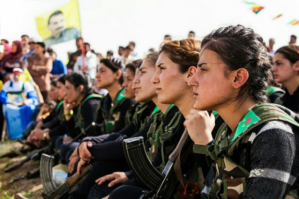 Kurdish YPG fighters in Syria have skirmished with ISIS/ISIL militants said to especially fear death at the hands of a woman. The unofficial militias have been reluctantly accepted as allies in global attempts to destroy terror cells. Photo: Flickr CC https://flic.kr/p/qkxigM