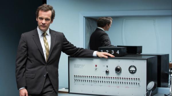 """Peter Sarsgaard as Stanley Milgram in """"Experimenter."""""""