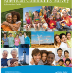 Photo shows a collage of pictures featuring people in groups. At the top, it says American Community Survey.