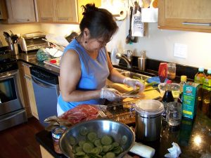 Photo of a woman cooking